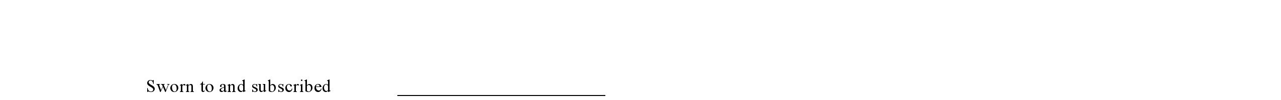 Blank Affidavit Template Form