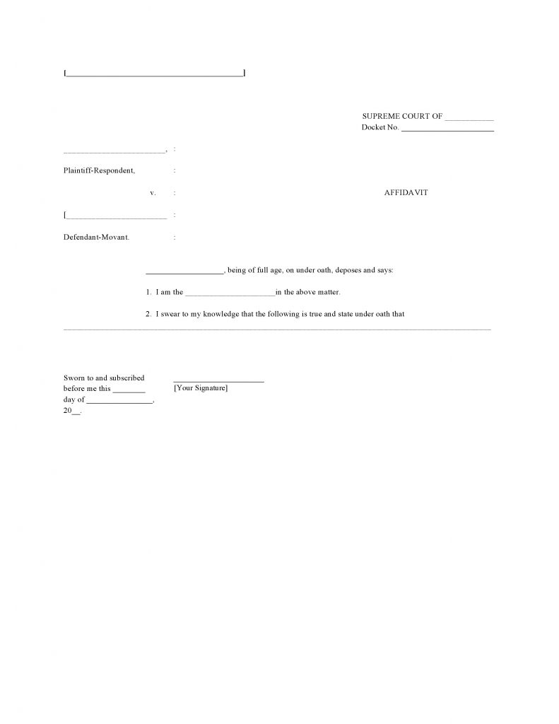 Free Blank Affidavit Template Form PDF Word – Free Affidavit Form Download