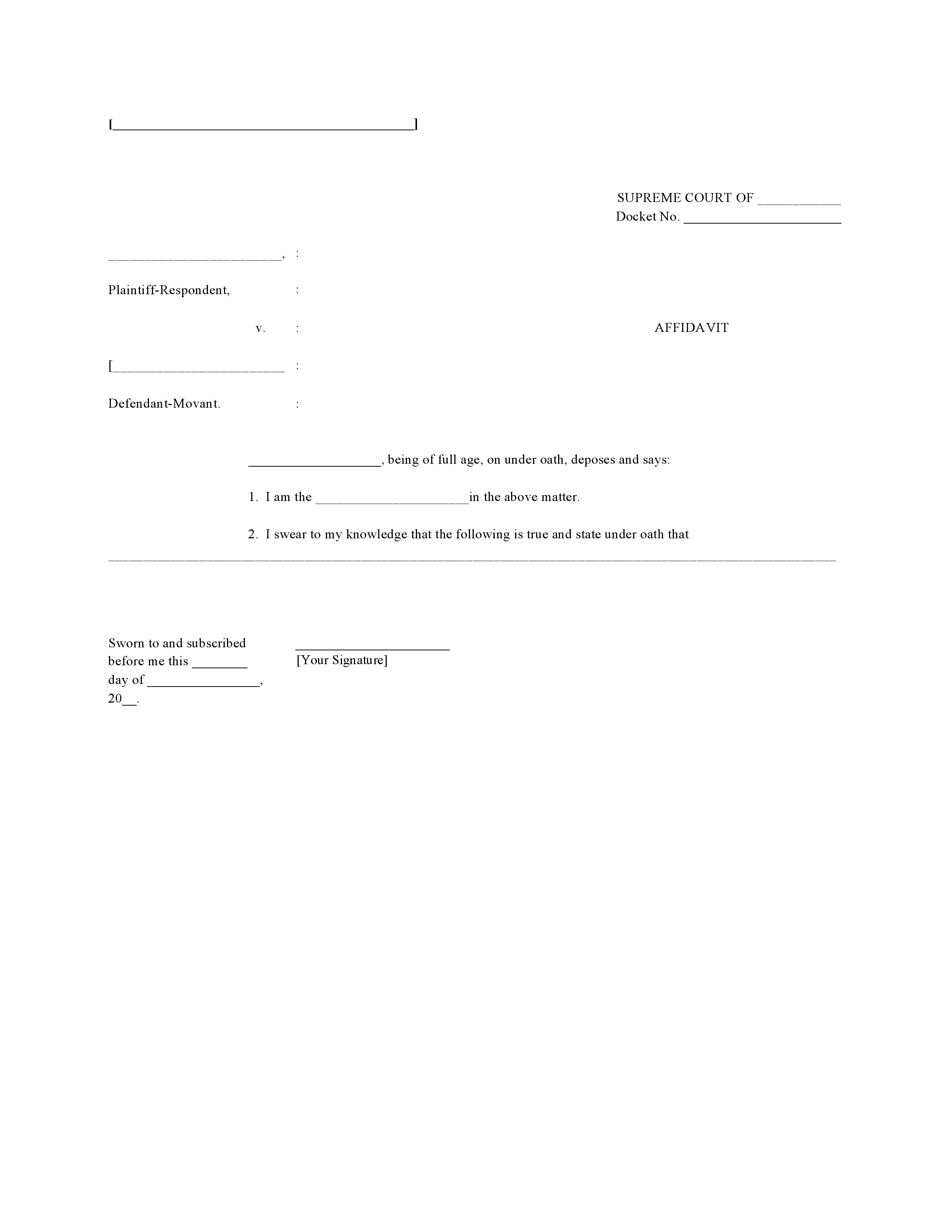 Doc415537 Affidavit Word Template Affidavit Form 80 Similar – Affidavit Sample Format
