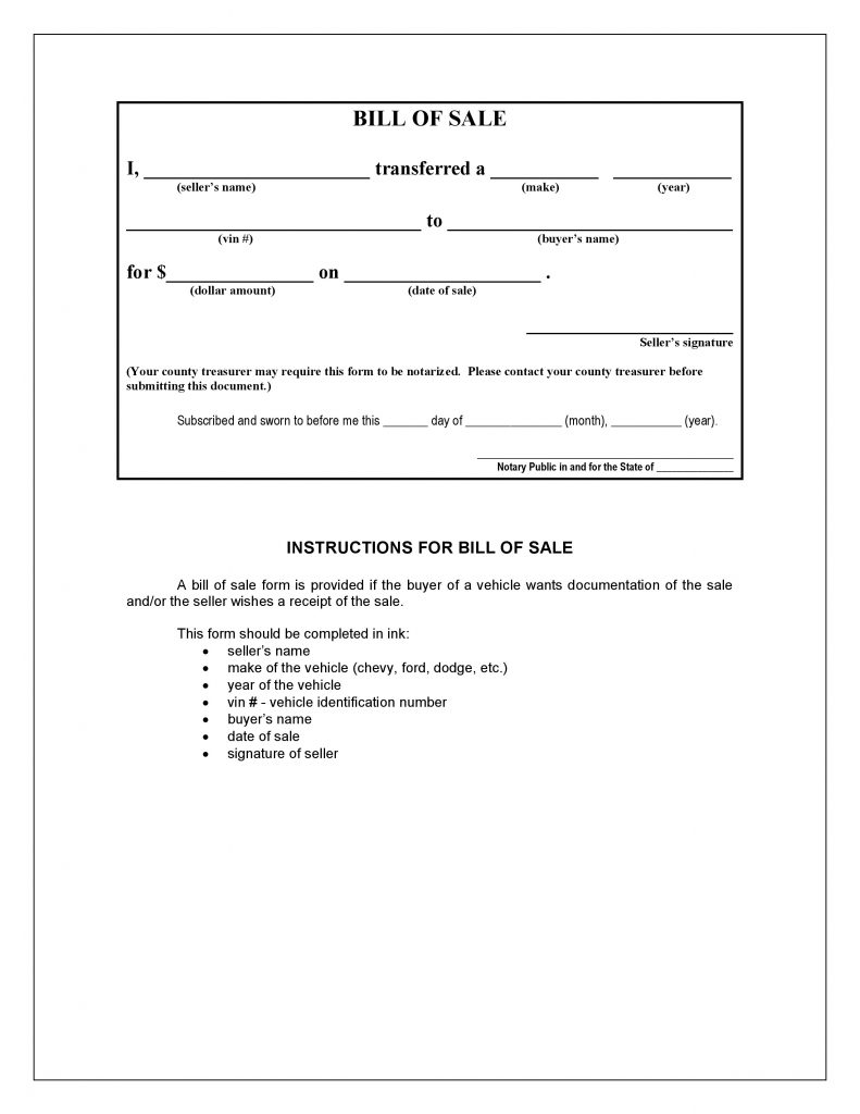 Iowa Bill of Sale