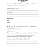Massachusetts Recreational Vehicle Bill of Sale Form