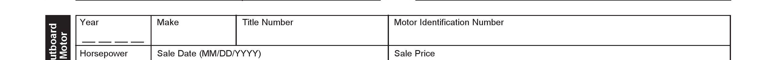 Missouri Bill of Sale