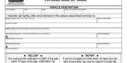 Oregon Vehicle Bill of Sale