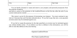 Rhode Island Notice of Termination of Tenancy